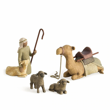 Shepherd and Stable Animals    ..... coordinates with Willow Tree Nativity #2600