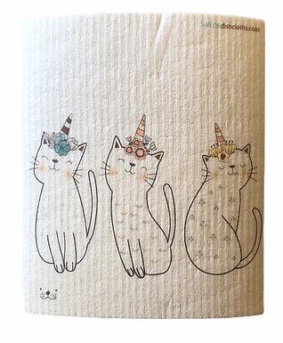 Three Uni-Cats .......... Swedish Dishcloth