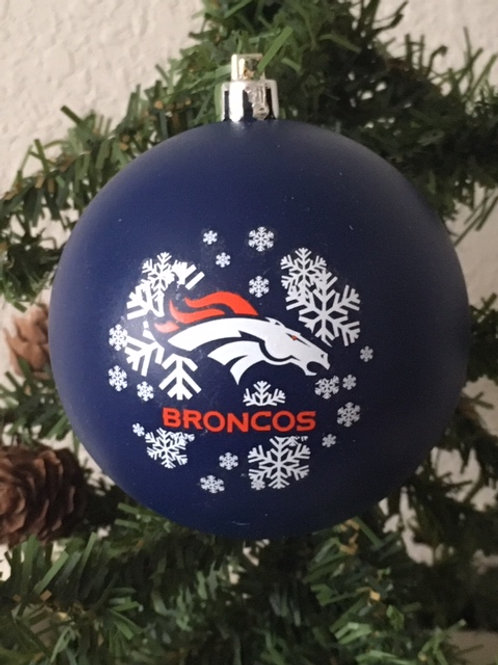 Broncos Shatter-Proof Ball Ornament