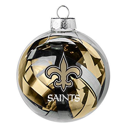 Saints Tinsel Ball Ornament
