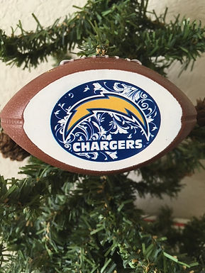 Chargers Replica Football Ornament
