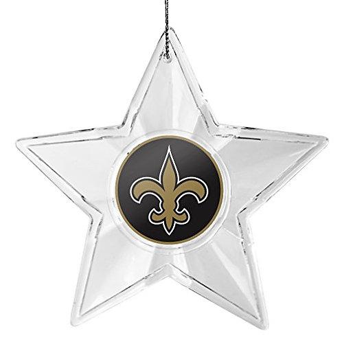 Saints Acylic Star - Cut Crystal Design Ornament