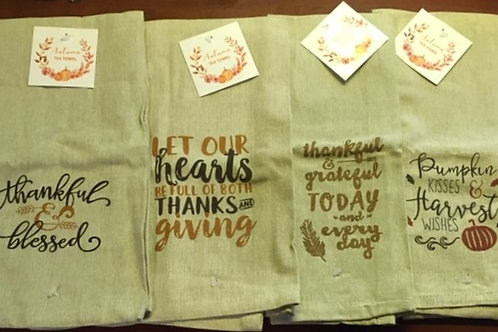 Set of 4 Fall Harvest Towels ..... Bistro Towels
