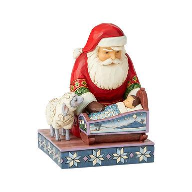 Santa By Baby Jesus