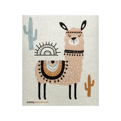 Tan Llama .......... Swedish Dishcloth