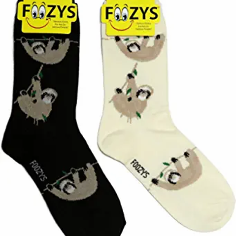 Foozys Womens Sloth Socks ..... 2 pr (1 pair of each
