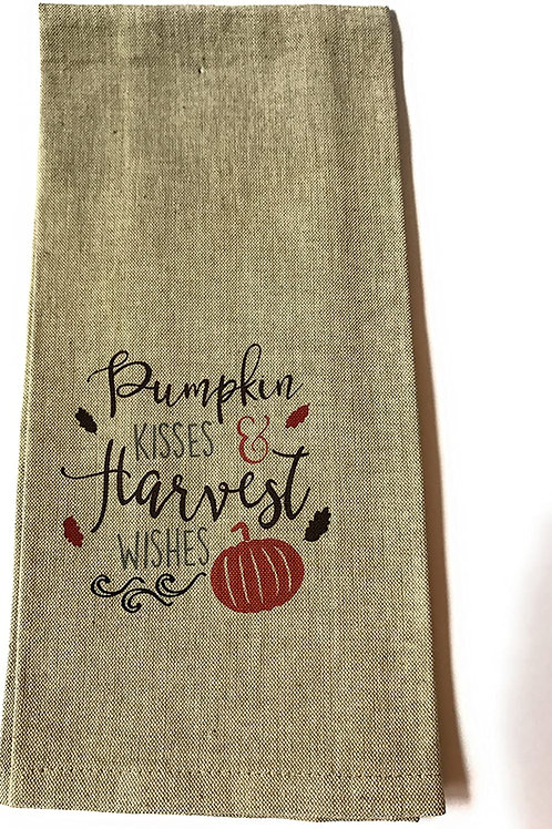 Pumpkin Kisses & Harvest Wishes ..... Bistro Towel