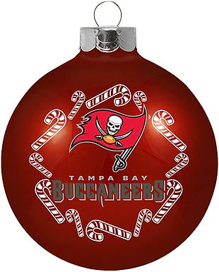 Buccaneers Candy Cane Ball Ornament