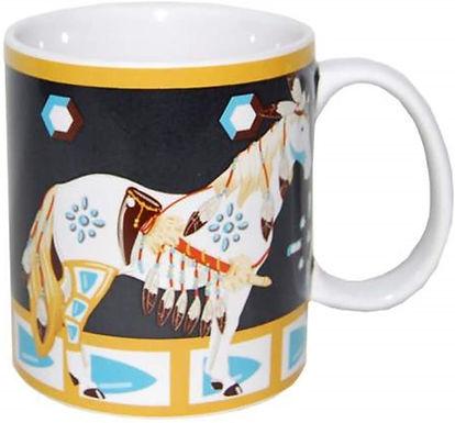 14oz .....Many Feathers Horse Mug