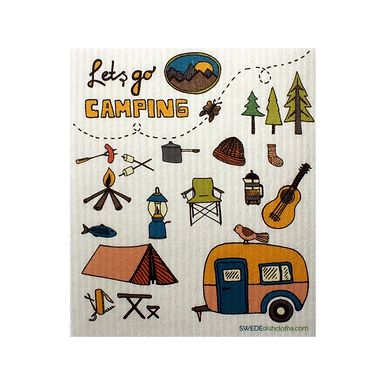 Let's go Camping .... Swedish Dishcloth
