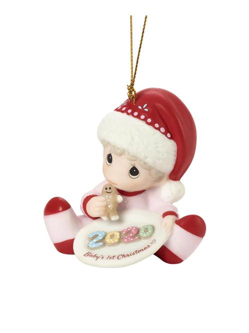 Baby's 1st Christmas 2020 Dated Girl Ornament      Baby's 1st Christmas 2020 Da