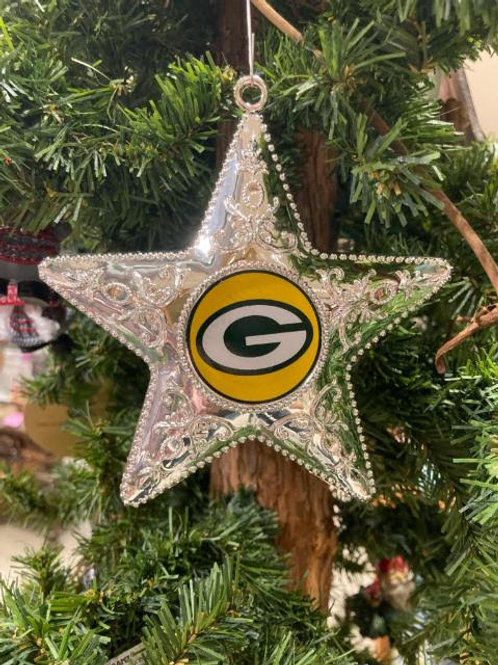 Packers Silver Star Ornament