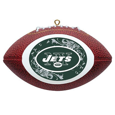 Jets Replica Football Ornament