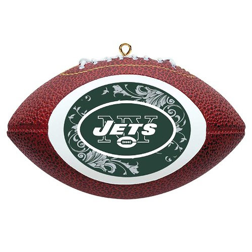 Jets Replica Football Ornament