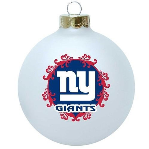 Giants Large Glass Ball Ornament