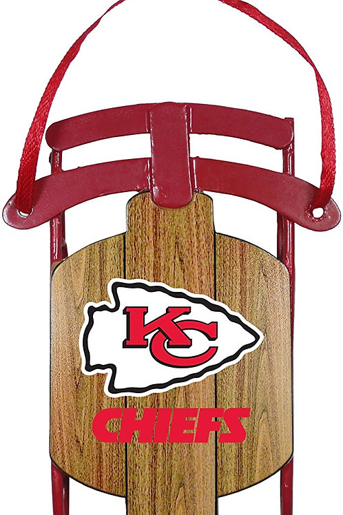 Chiefs Metal Sled Ornament