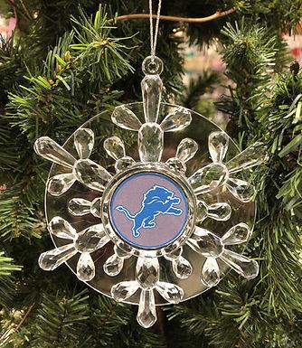 Lions Acylic Snowflake - Cut Crystal Design Ornament