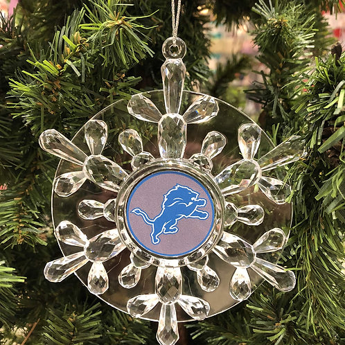 Lions Acylic Snowflake - Cut Crystal Design Ornament