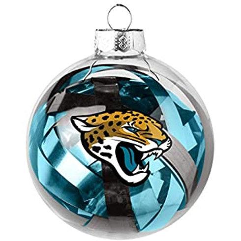 Jaguars Tinsel Ball Ornament