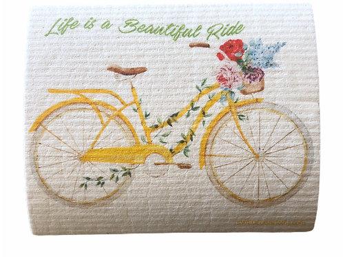 Life Is A Beautiful Ride .......... Swedish Dishcloth