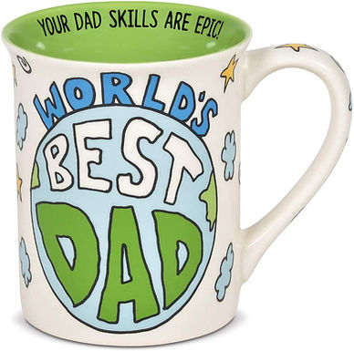 "16oz .....   ""Worlds Best Dad"" Mug ..... by Our Name I"
