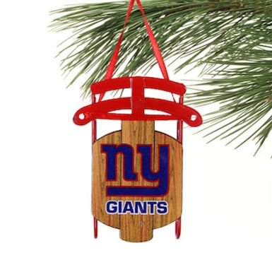 Giants Metal Sled Ornament
