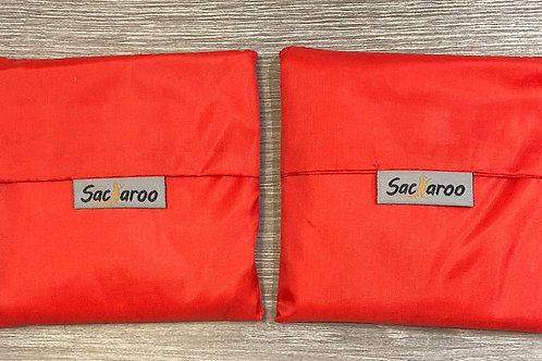 Red Sacaroo Reusable Bag Set of 2