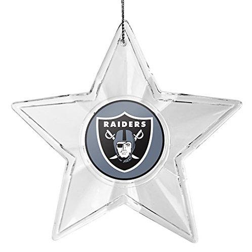 Raiders Acylic Star - Cut Crystal Design Ornament