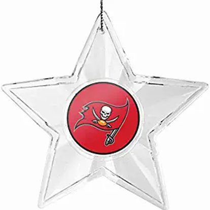Buccaneers Acylic Star - Cut Crystal Design Ornament