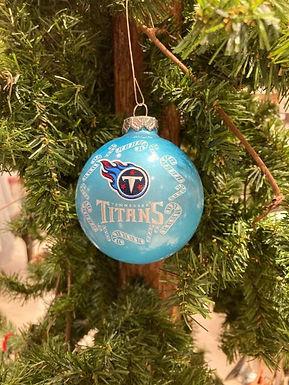 Titans Candy Cane Ball Ornament
