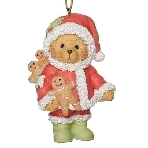 133476 santa with gingerbread orn