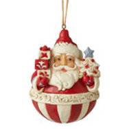 Rolo Poly Santa  (Nordic Noel Round Santa Orn) ....  by Jim Shore