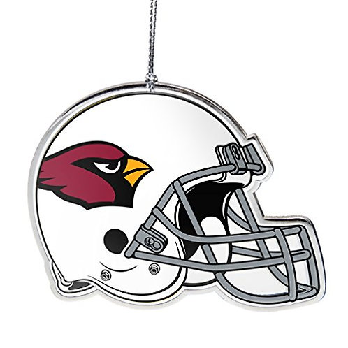 Cardinals Flat Metal Helmet Ornament