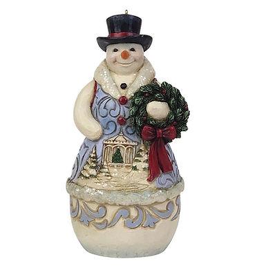 Victorian Snowman Wreath Orn