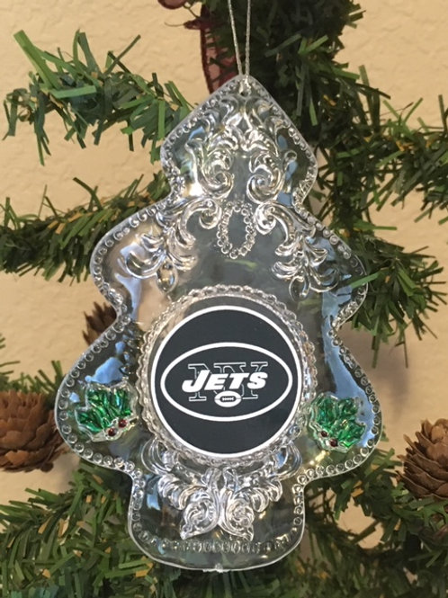 Jets Acylic Tree - Cut Crystal Design Ornament