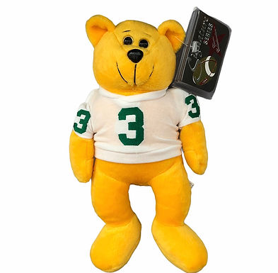 Plush Classic Collecticritter Limited Edition Bear. Joe Montana, White Jersey #3