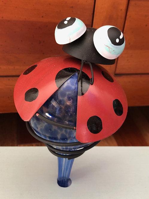 Ladybug Glass Plant Watering Globe