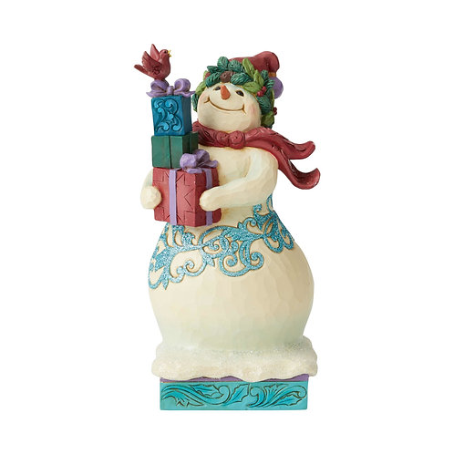 Wonderland Snowman With Gifts