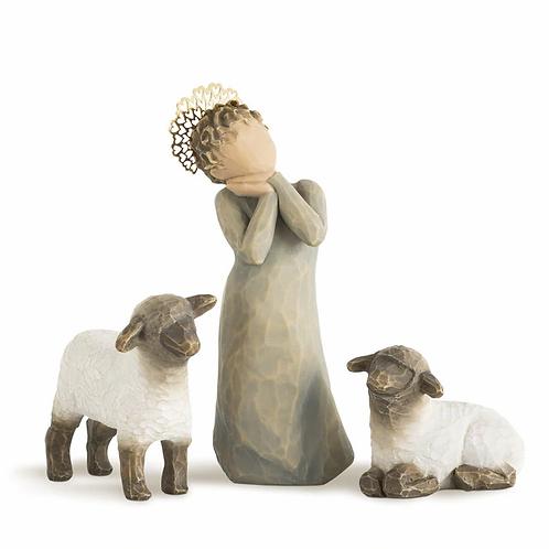 Little Shepherdess..... coordinates with Willow Tree Nativity #26005