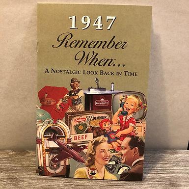 1947 Remember When Kardlet