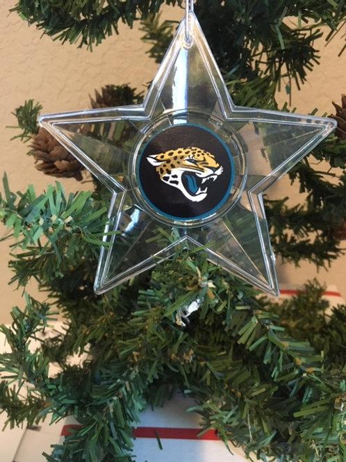 Jaguars Acylic Star - Cut Crystal Design Ornament