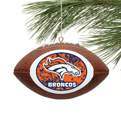 Broncos Replica Football Ornament