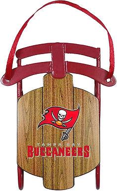 Buccaneers Metal Sled Ornament