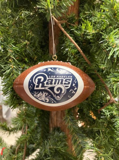 Rams Replica Football Ornament