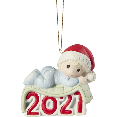 Baby's 1st Christmas 2021 Dated Boy Ornament