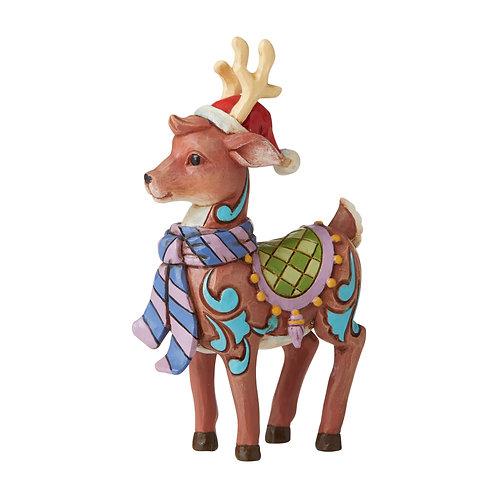 Mini Reindeer with Santa Hat