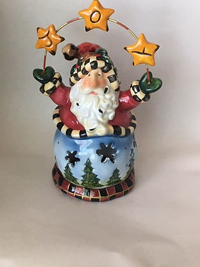 Joy Santa Tea Light Holder