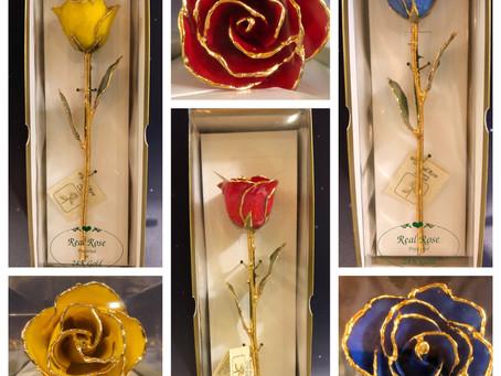 24k Gold Trimmed Rose