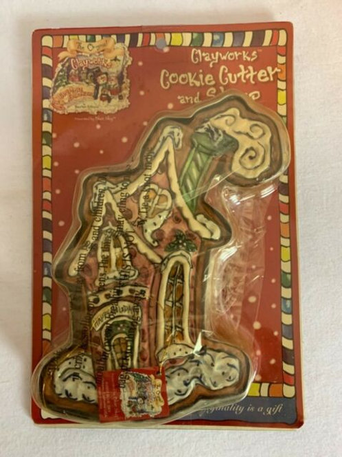 Clayworks Holiday House Cookie Cutter and Stamp