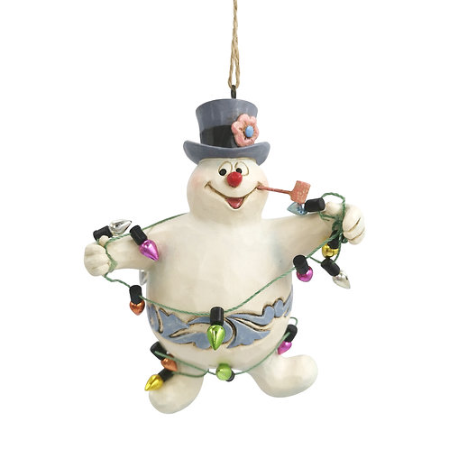 Frosty Wrapped In Lights Ornament